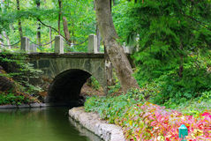 Old stone bridge royalty free stock photos