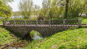 Old stone bridge in the arboretum Alexandria Royalty Free Stock Photos