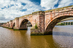 Old stone bridge in Berwick-upon-Tweed Stock Photography