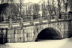Old stone bridge Stock Images