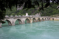 Old Stone Bridge on the Drina Royalty Free Stock Image