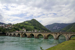 Old Stone Bridge on the Drina Royalty Free Stock Photo