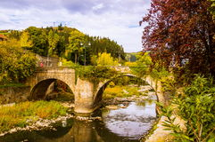 Old stone bridge in early winter Royalty Free Stock Photo
