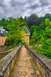 Old stone bridge in Luxembourg, Benelux, HDR Stock Photography