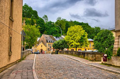 Old stone bridge in Luxembourg, Benelux, HDR Stock Images