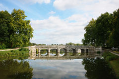 Old stone bridge near the castle Chambord Royalty Free Stock Images