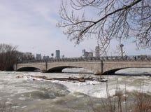 Old stone bridge on Niagara River Royalty Free Stock Photo
