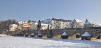 Old stone bridge Pisek Stock Photo