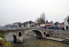 Old Stone Bridge, Prizren Kosovo. The Old Stone Bridge is one of the landmarks of Prizren. It crosses the Prizrenska Bistrica Stock Image
