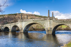 Old Stone Bridge and Reflection in Water Royalty Free Stock Photo