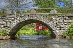 Old stone bridge in Sweden Royalty Free Stock Image