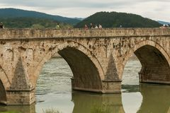 Old stone bridge Visegrad Bosnia Royalty Free Stock Photography