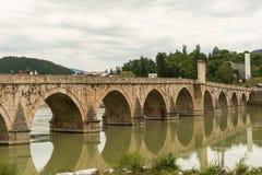 Old stone bridge Visegrad Bosnia Royalty Free Stock Image