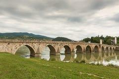 Old stone bridge Visegrad Bosnia Royalty Free Stock Photos