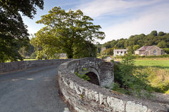 Old stone bridge in welsh countryside Stock Images