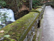 An old stone bridge at Whatcom Falls Park Royalty Free Stock Photos