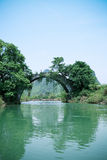 Old stone bridge in yangshuo Royalty Free Stock Photo
