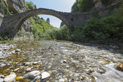 Old stone bridge in Zagoria Royalty Free Stock Photos