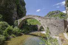Old stone bridge in Zagoria. Epirus, Western Greece Stock Images