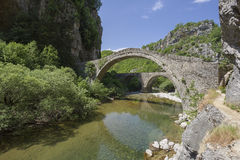 Old stone bridge in Zagoria. Epirus, Western Greece Royalty Free Stock Photos