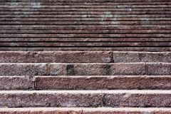 Old stone broken staircase Royalty Free Stock Photography