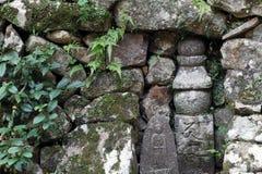 Old stone buddhist. Japanese old stone buddhist image Royalty Free Stock Images