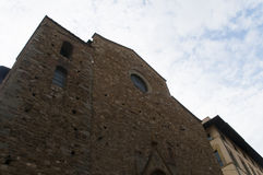 Old stone buildig and fancy windows firenze city Stock Photos