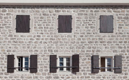 Old stone building facade Stock Photography