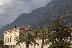 Old stone building in Kotor Montenegro stock photo
