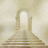 The old stone building with staircase Royalty Free Stock Photography