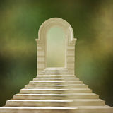 The old stone building with staircase Royalty Free Stock Images