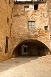 Old stone building style Girona Stock Photo