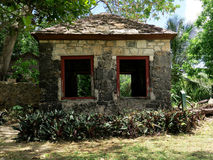 Old Stone Building in Tropical Setting Royalty Free Stock Image