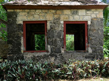 Old Stone Building in Tropical Setting Stock Image