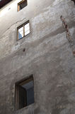 Old stone building windows in Lviv Royalty Free Stock Photo