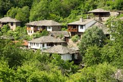 Old stone Bulgarian houses Royalty Free Stock Image