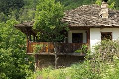Old stone Bulgarian houses Royalty Free Stock Images