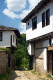 Old stone Bulgarian houses. In the village of Dolen Royalty Free Stock Photo