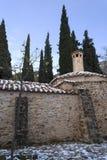 Old stone byzantine monastery in Kaisariani, Athens, Greece Stock Photos