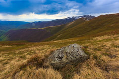 Old stone in Carpathians Royalty Free Stock Images