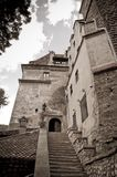 Old stone castle entrance Royalty Free Stock Photos