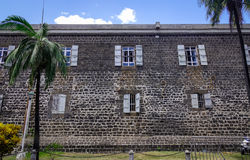 Old stone castle in Port Louis, Mauritius Stock Image