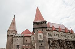 Old stone castle in Romania - Hunedoara castle Royalty Free Stock Photography