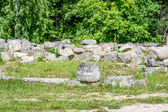 Old stone castle ruins Royalty Free Stock Photo