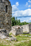 Old stone castle ruins Royalty Free Stock Image