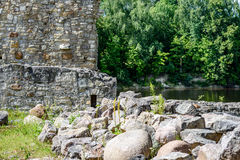 Old stone castle ruins Stock Image