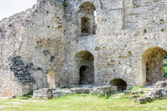 Old stone castle ruins Stock Photos
