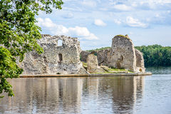 Old stone castle ruins Stock Photography