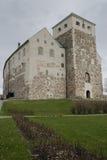 Old stone castle in Turku. Medieval stone castle in Turku (Finland Stock Image