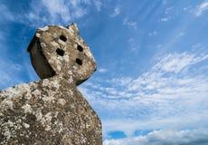 Old stone Celtic cross gravestone Royalty Free Stock Image